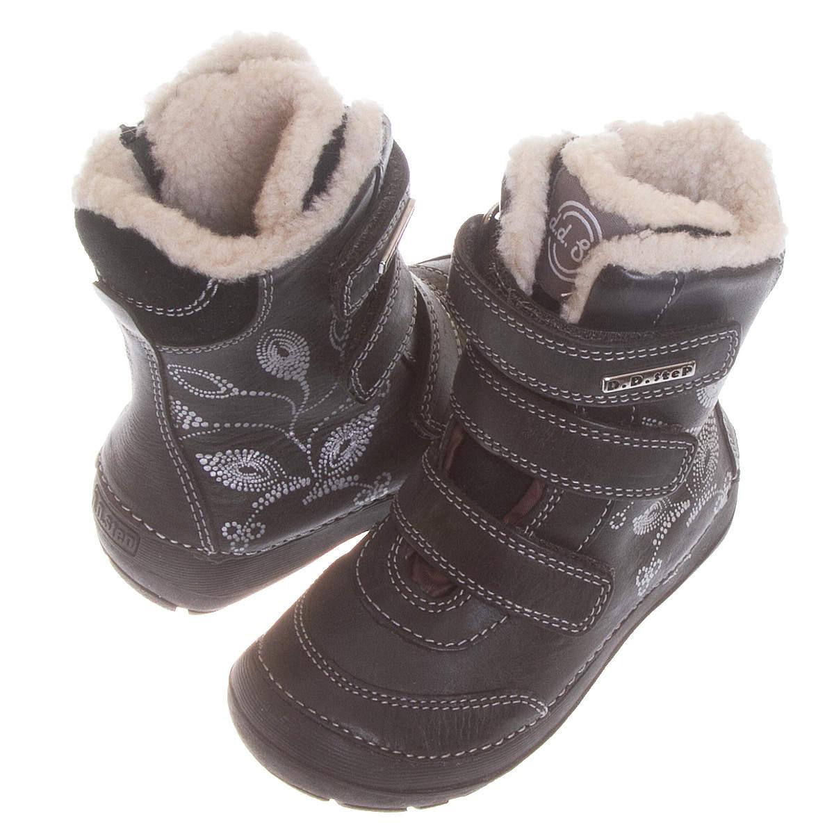 0cfbff056e4065 Шкіряні чобітки D. D. Step 023-320 М чорного кольору купити в ...