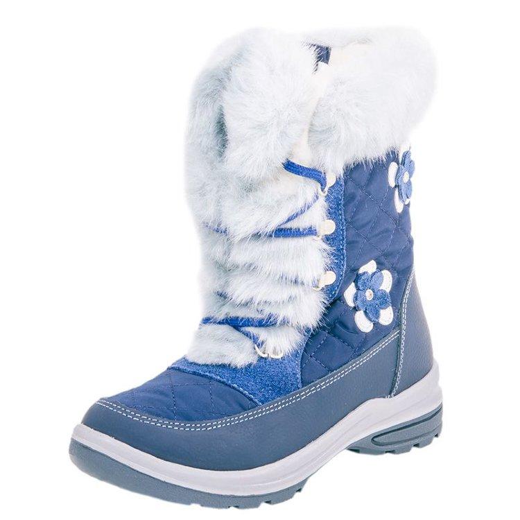 74addcac3dd864 Зимние сапоги на мембране Котофей 564922-42 синего цвета купить в ...