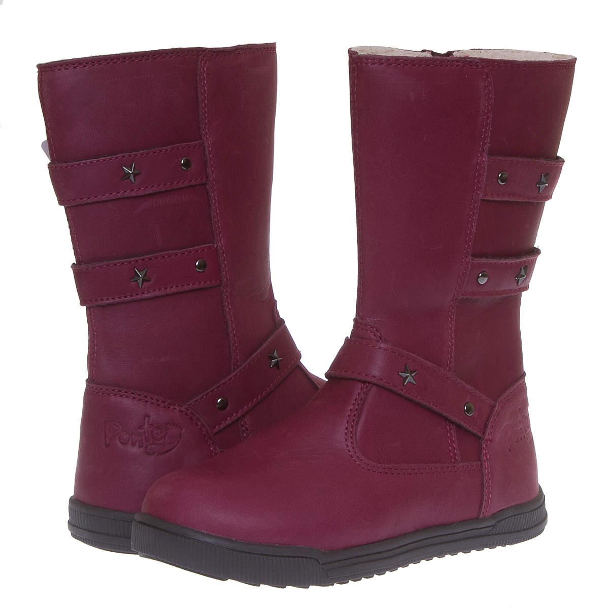 Шкіряні чоботи для дівчинки Ponte20 DA 06-1-606A Raspberry купити в ... 198512448a2a7