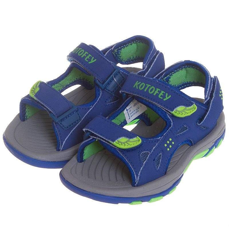 290eb19c0 Пляжная обувь для мальчика Котофей 323048-11, цвет синий, интернет ...