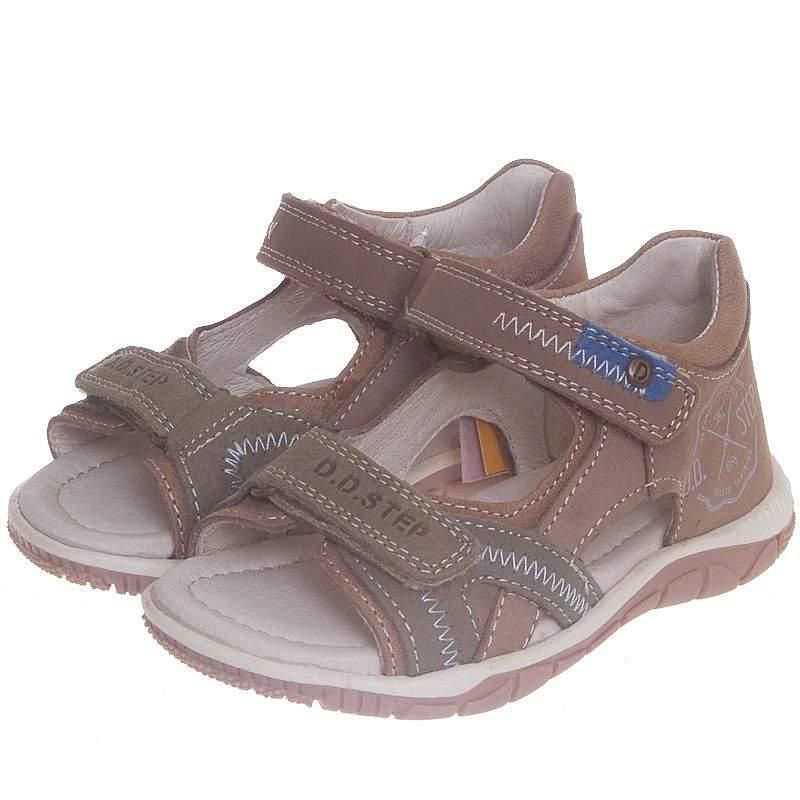 d3c1d9b77 Летние босоножки для мальчика D.D.Step кожаные в интернет-магазине ...