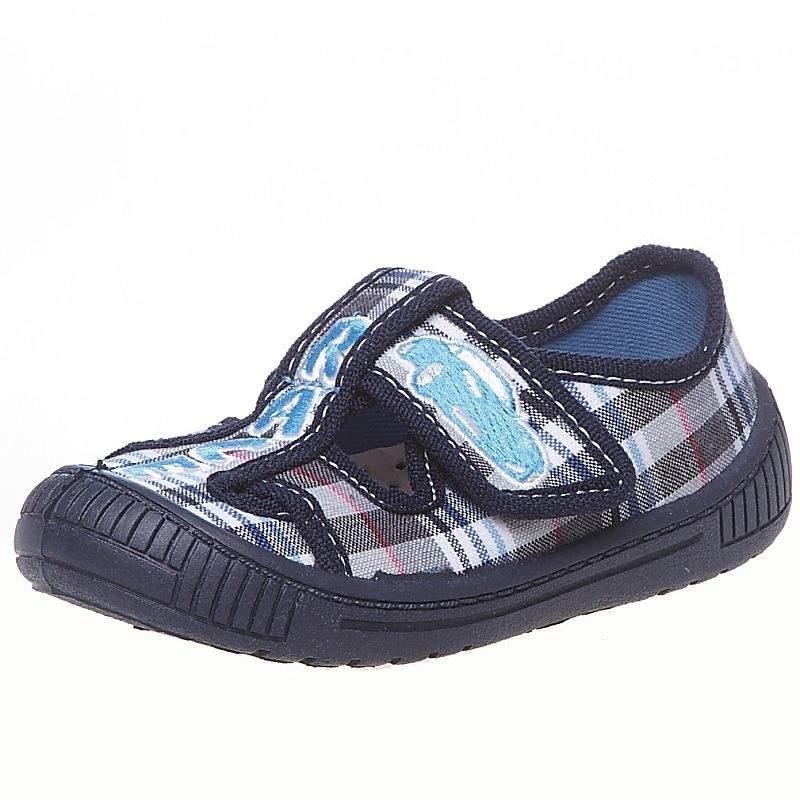 d5fdda7508a887 Дитяче текстильне взуття MB (Польща) 3Sk5-3 в синю клітку для ...