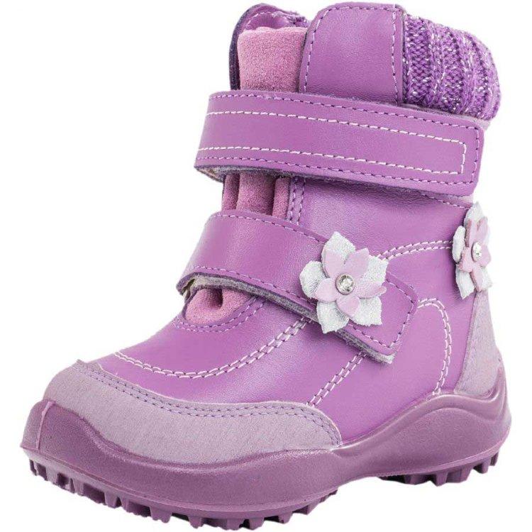 1902e428d Зимние кожаные ботинки для девочки Котофей 352053-54 купить в ...