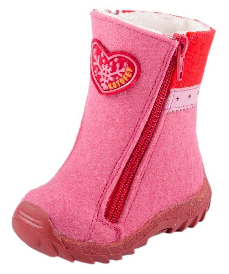 45df1f615 Детские валенки Котофей 167012-48 для девочек розового цвета купить ...